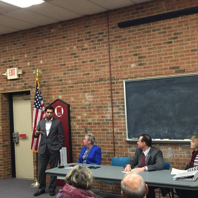 Speaking at the Clifton Dem meeting